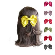 girls hair bows faux leather