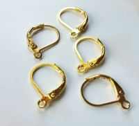 Earwires Ear Wires Leverback Gold Findings Leverback ...