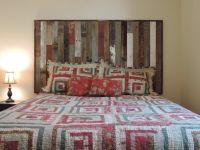 Rustic Reclaimed Barn Wood Wall Mounted Country Headboard ...