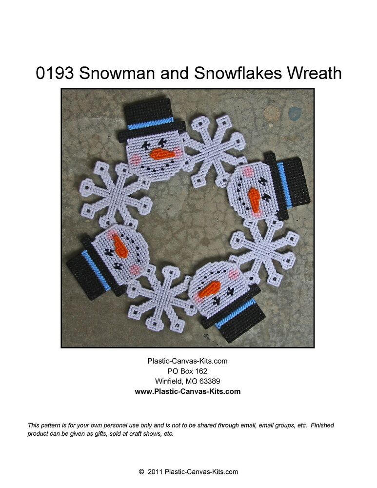Snowman And Snowflakes Wreath Christmas Winter Plastic