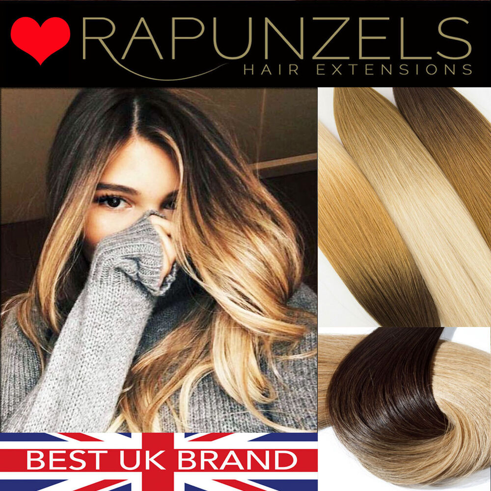20 Dip Dye Ombre Clip In Hair Extensions DIY Weave Remy