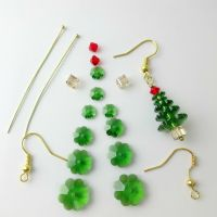 Crystal Christmas Tree Earrings Kit with Instructions | eBay