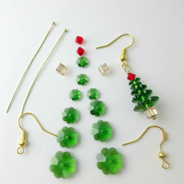 Crystal Christmas Tree Earrings Kit with Instructions eBay