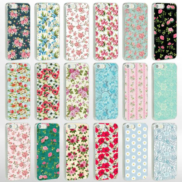 Vintage Floral Flower Shabby Chic Phone Case Cover for