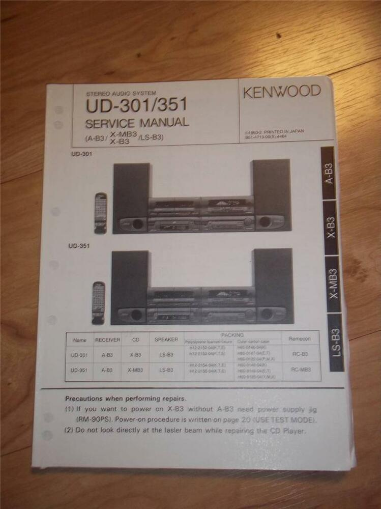 Kenwood Service Manual~UD-301 UD-351 Audio System~Original