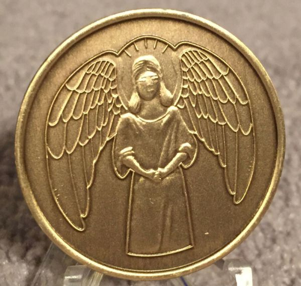 Guardian Angel Recovery Medallion Chip Coin Aa Na Bronze