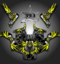 details about polaris rzr 800 utv graphics decal wrap 2007 2010 unleashed yellow [ 1000 x 1000 Pixel ]