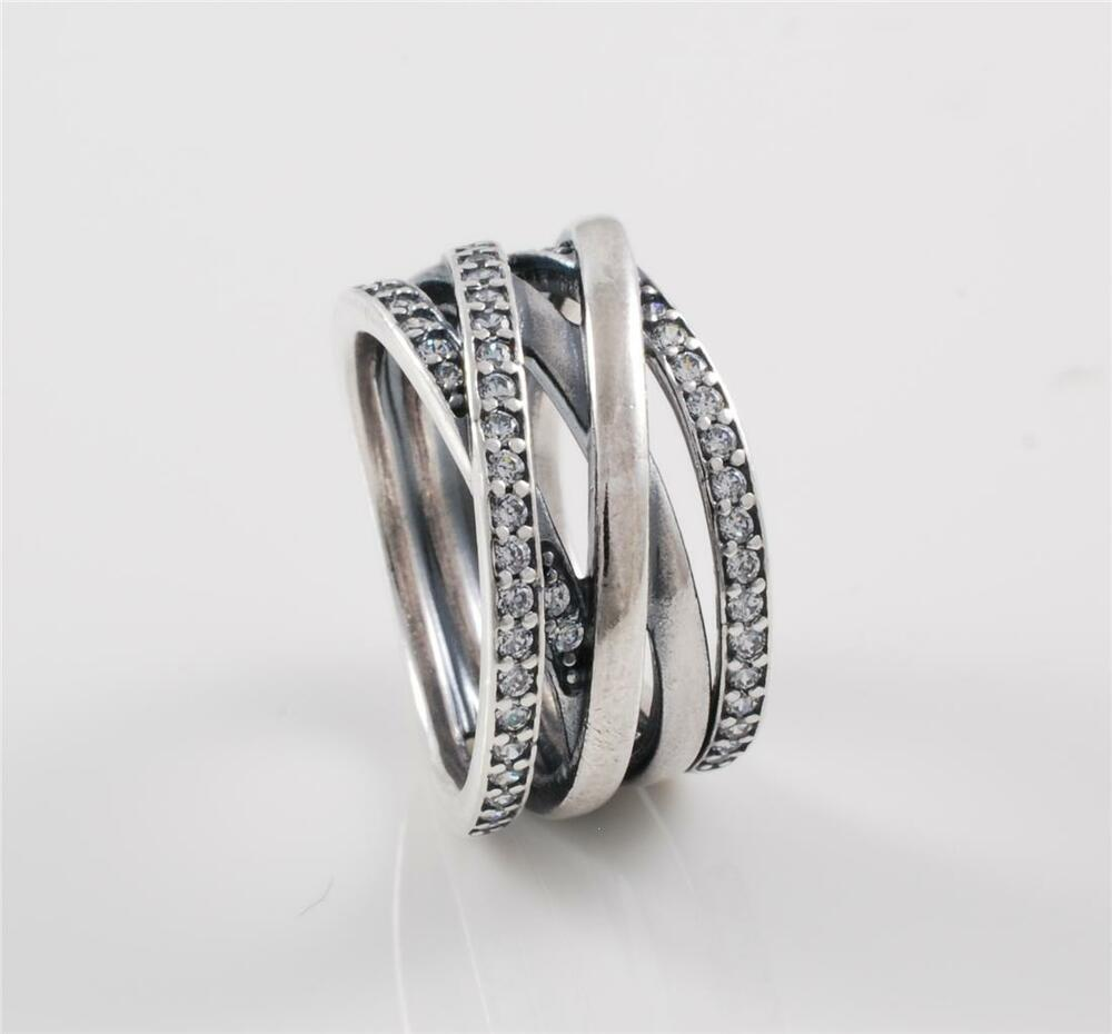 Authentic Genuine Pandora Sterling Silver Entwined Ring 190919CZ52  eBay