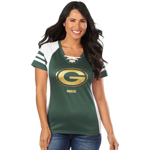 Nfl Green Bay Packers Jersey Draft Vii Sequin Tee