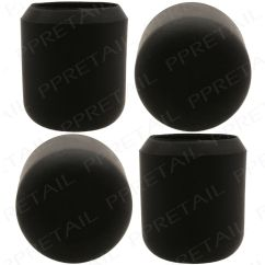 Chair Rubber Feet Protectors Extra Large Folding 4x Thick Leg Caps 25mm Black Anti Scratch Floor Protector Chair/table New | Ebay
