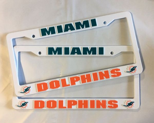 2 Dolphins License Plate Frame Auto Truck Free