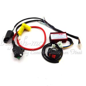 Racing CDI Ignition Coil Kill Switch Wiring Loom Harness Pit Dirt Bike 50160cc | eBay