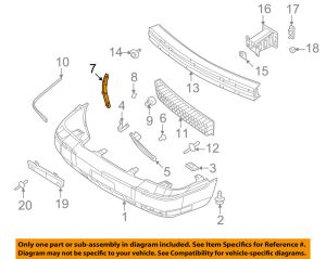 Mercury FORD OEM Grand Marquis Front BumperMount Bracket