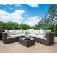 SUPERNOVA Outdoor Patio 6PC Sectional Furniture Wicker ...