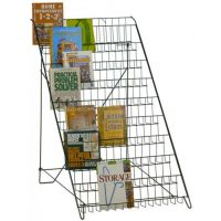 10 Open Shelf Wire Literature Display Rack Floor Model in ...