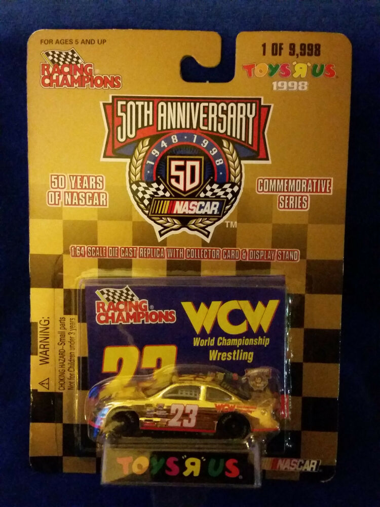 1998 Racing Champions 164 Scale Toys R Us Gold 19998 23 WCW Wrestling EBay