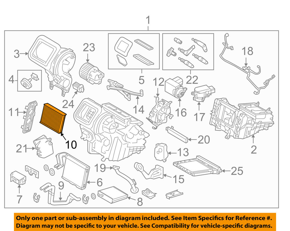 hight resolution of details about land rover oem 12 17 range rover evoque cabin air filter lr056138