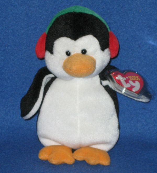 Ty Snowbank Penguin Beanie Baby - Mint With Tag