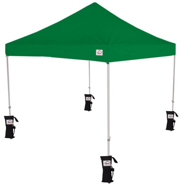 10x10 Ez Pop Canopy Tent Instant With Weight Bags Kelly Green