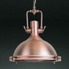 Modern Kitchen Pendant Lights Backsplash Anton Copper -large Industrial Retro ...