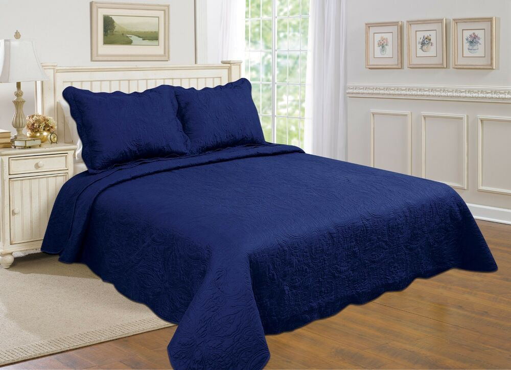 7All For you 3 pc reversible quilt set bedspread
