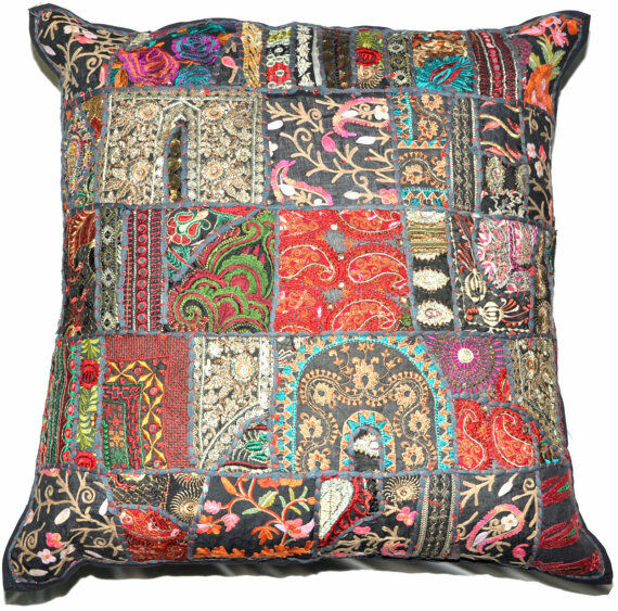 20x20 XL Black Decorative Throw Pillow cover floor pillow