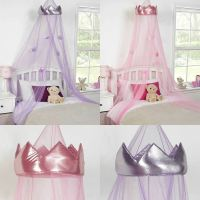 Princess Crown Bed Canopy Kids Childrens Girls Insect ...