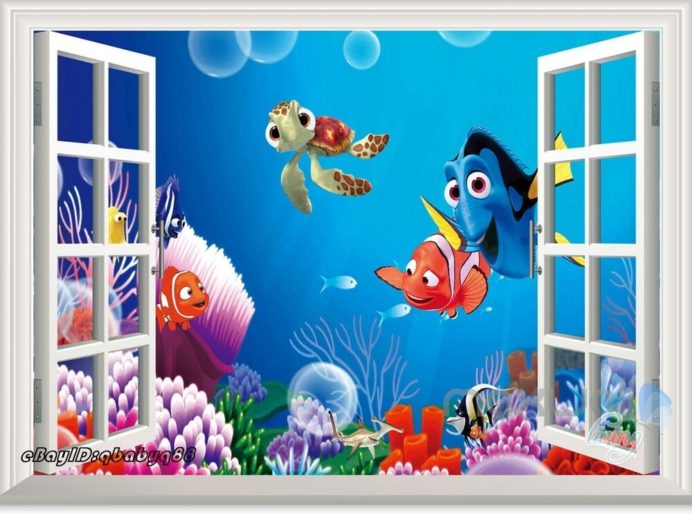Finding Nemo Dory Fish 3D Window Removable Wall Decal Kids