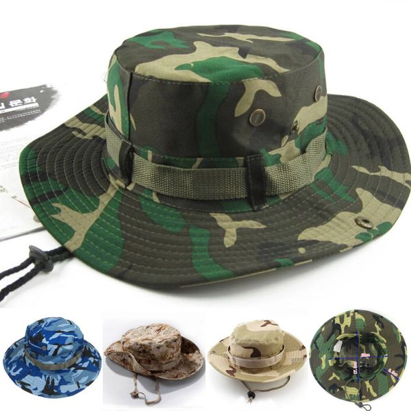 Outdoor Men Women Waterproof Sun Bucket Boonie Hat Wide