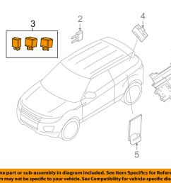 details about land rover oem 12 18 range rover evoque electrical relay ywb500220 [ 1000 x 798 Pixel ]