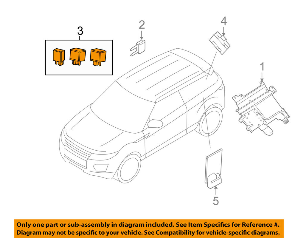 hight resolution of details about land rover oem 12 18 range rover evoque electrical relay ywb500220