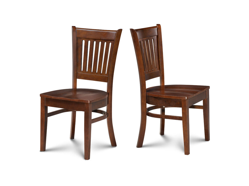 SET OF 4 DINETTE KITCHEN DINING CHAIRS WITH WOODEN SEAT IN