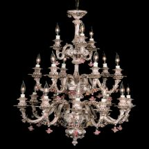 Capodimonte In Italy Chandelier 18 Lights