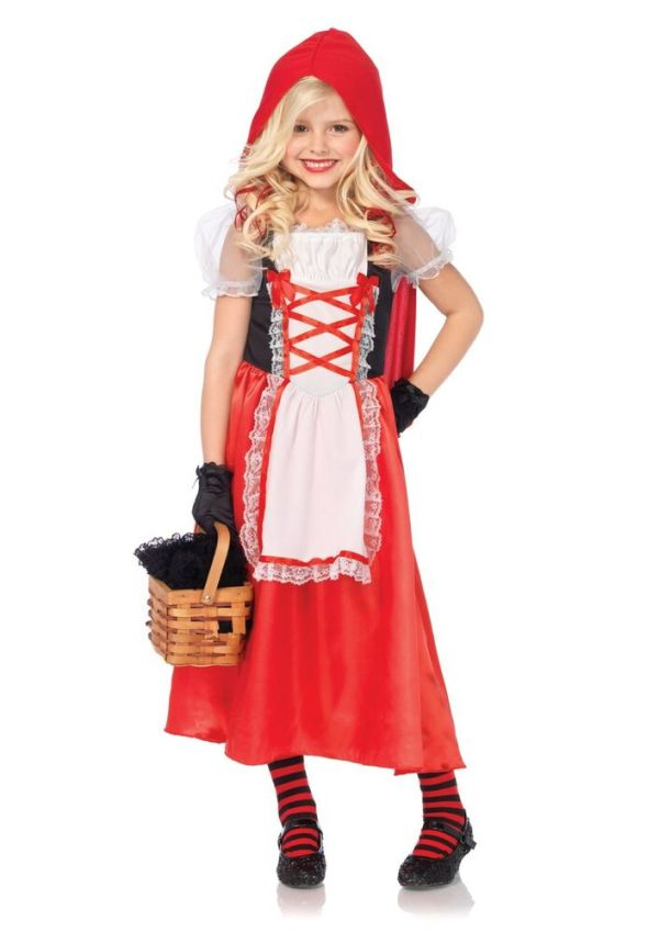 Cute Adorable Little Red Riding Hood Fairy Tales Girls