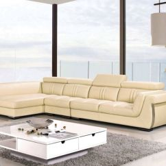 Leather Sofa Deals Free Shipping Modern Sectional Sleeper 3 Pc Contemporary Cream Genuine ...
