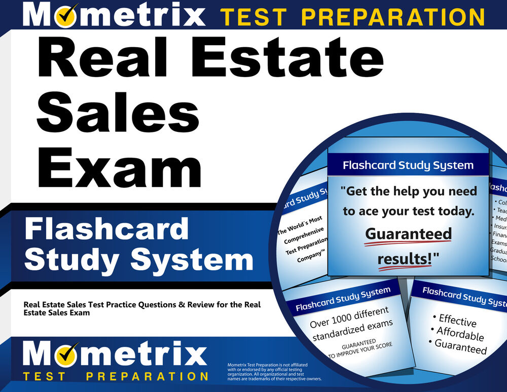Real Estate Sales Exam Flashcard Study System 1610728084  Ebay