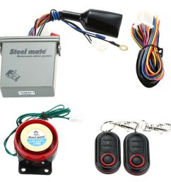 steelmate motorcycle alarm system remote engine start with transmitter [ 1000 x 1000 Pixel ]