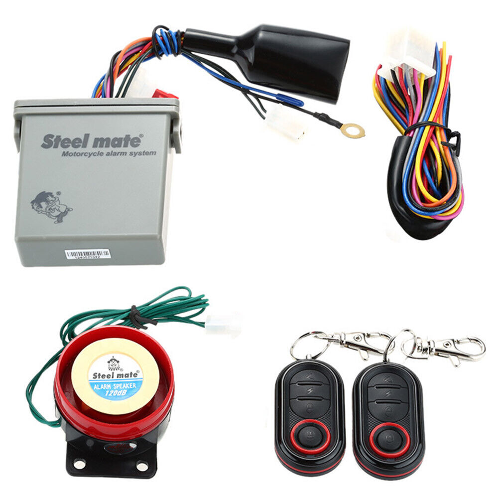 medium resolution of steelmate motorcycle alarm system remote engine start with transmitter
