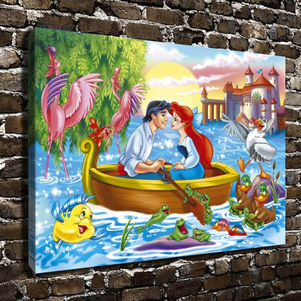 034 X16 Hd Canvas Print Art Painting Frame Disney Little Mermaid 1228