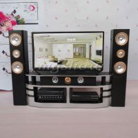 Dollhouse Furniture Living Room Accessories TV Theatre Set ...
