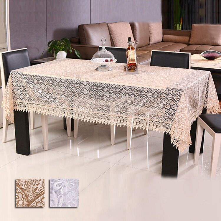 New Tablecloth Coffee Table Cloth Organdy Embroidered