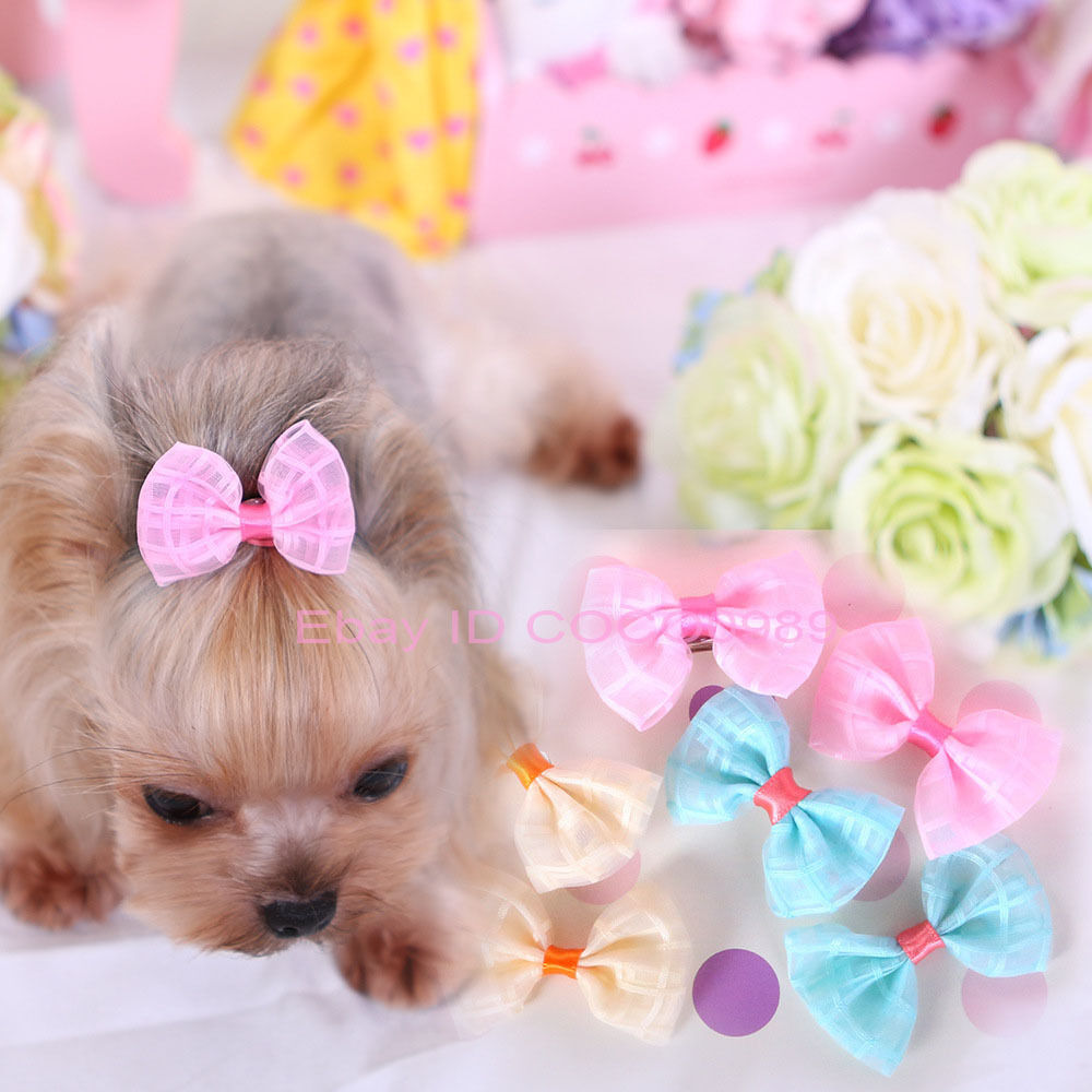 20PCS Pet Dog Hair Clips Bow Tie Dog Grooming Accessories