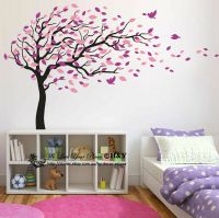 Blowing Tree Birds Wall Stickers Nursery Decal Baby Kids ...