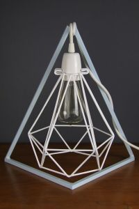 Diamond Geo Bed side table lamp stand original metal light