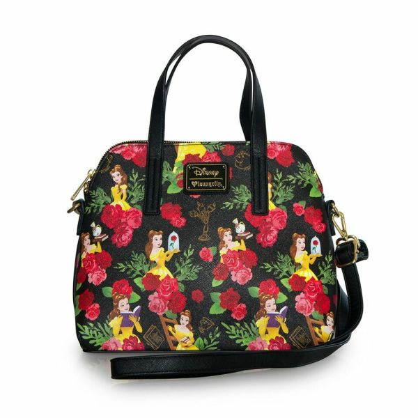 Disney Beauty And Beast Purse Belle Floral Tote