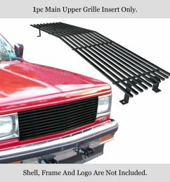 details about new fits 82 90 chevy s 10 pickup blazer jimmy black stainless billet grille [ 1000 x 1000 Pixel ]