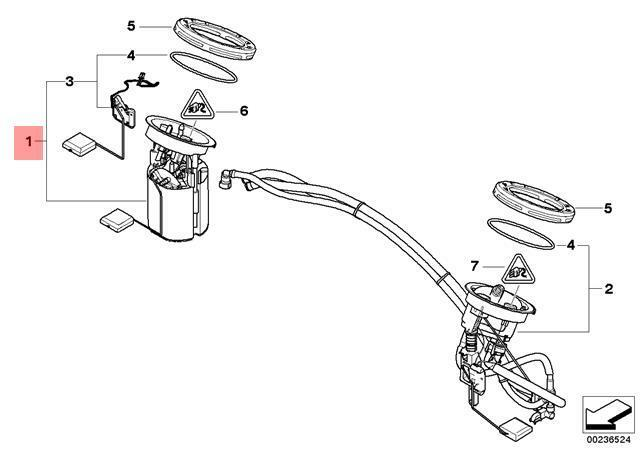 Genuine BMW E87 E90 E91 E92 Fuel Pump + Level Sensor