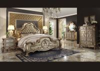 Formal Luxury Antique Dresden Gold Cal King Size 4 Pcs ...
