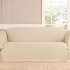 Quilted Microsuede Sofa Cover Simmons Hide A Bed Convertible Micro-suede Slipcover Loveseat Chair Furniture ...