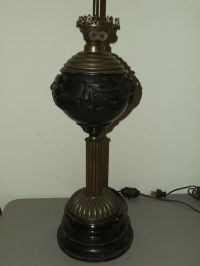 Antique 1800's Brass Victorian Oil GWTW Banquet Lamp Base